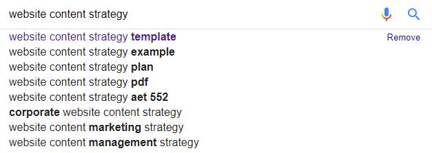 Google keyword auto-populate